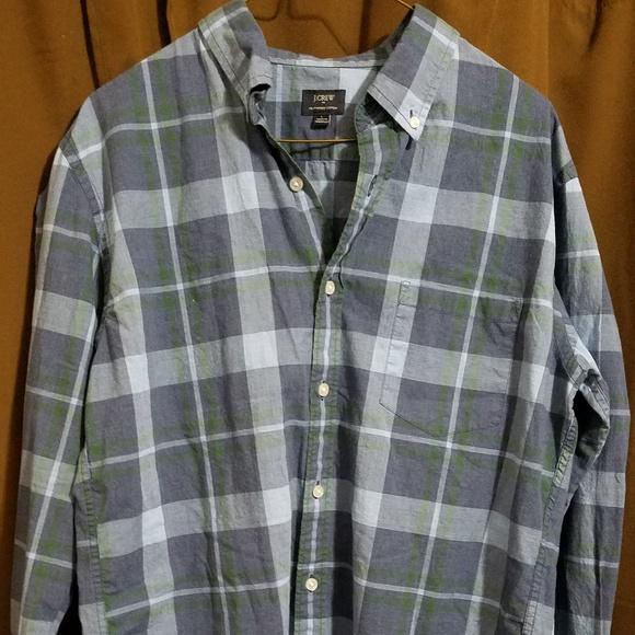 J Crew Mens Large Button Up Shirt Jcrew